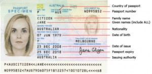 paspoort visum Australie